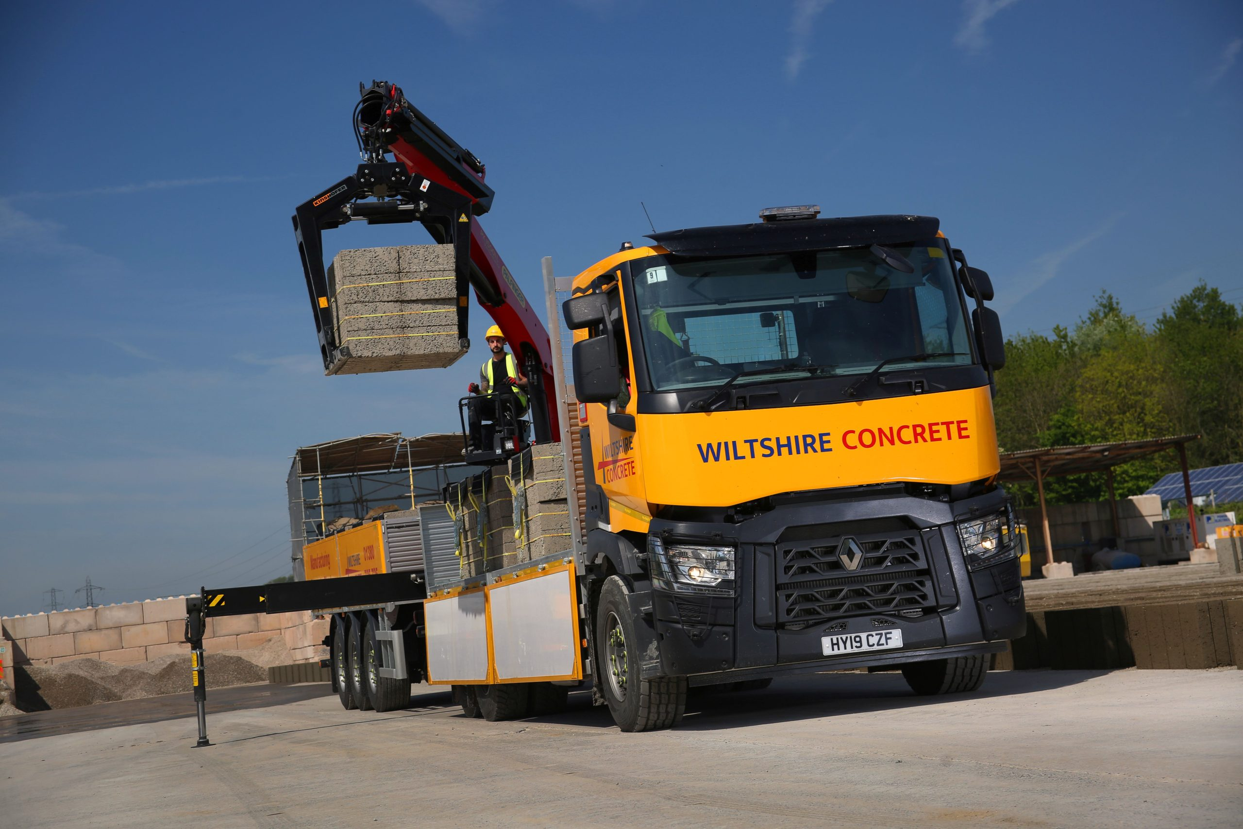 Concrete Block Delivery from Wiltshire Concrete