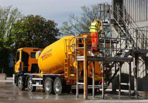 Concrete Mixer and Operative at Wiltshire Concrete