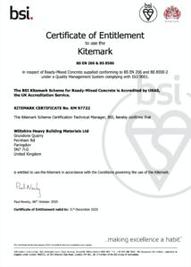 Faringdon BSI Certificate 2020